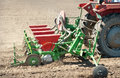 Tractor and seeder Royalty Free Stock Image