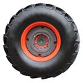 Tractor tire on white background isolated with paths Royalty Free Stock Image