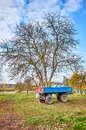 Tractor trailer on a farm in autumn Royalty Free Stock Photo