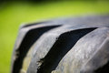 Tractor tyre tire closeup of tread Royalty Free Stock Image