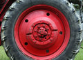 Tractor wheel Royalty Free Stock Photos