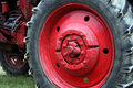 Tractor wheel Stock Image
