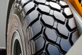 Tractor wheel and tire Royalty Free Stock Photo