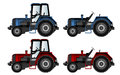 Tractors agricultural machinery illustration Stock Photography