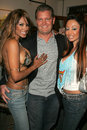 Tracy bingham traci bingham and her fiance john with jennifer garnika at champagne and bikinis hosted by geoff thomas designs and Royalty Free Stock Image