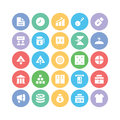 Trade colored vector icons we are up with icon these pack is designed to make you able to get your business website application Royalty Free Stock Photography