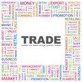 Trade concept illustration graphic tag collection wordcloud collage Stock Images