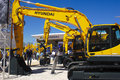 Trade fair for building machines munich germany april the world biggest titled bauma takes place with exhibitors from nations from Royalty Free Stock Photography