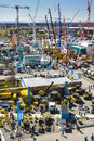 Trade fair for building machines munich germany april the world biggest titled bauma takes place with exhibitors from nations from Stock Images