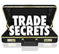 Trade secrets briefcase business proprietary information intelle the words in an opening black leather to illustrate or Royalty Free Stock Photography