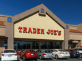 Trader joe s exterior and sign santa clarita ca usa october is an american privately held chain of specialty grocery Royalty Free Stock Photos