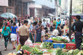 Trading activities at the downtown yangon market myanmar april this is a local in village of where people Royalty Free Stock Image