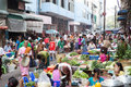 Trading activities at the downtown yangon market myanmar april this is a local in village of where people Stock Photos
