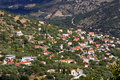 Tradiotinal Greek village at Ithaki Stock Images