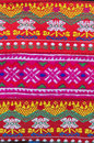 Tradition handwork fabric of hill tribe background,Thailand Royalty Free Stock Photo