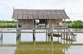 Tradition thai hut on countryside use as resort or homestay Stock Photography