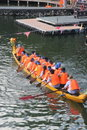 Traditional activities in China -- dragon boat race Royalty Free Stock Photo
