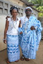 Traditional african dress admire these beautiful worn for big ceremony like marriage baptism funerals and large rancontre between Royalty Free Stock Image