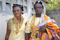 Traditional african dress admire these beautiful worn for big ceremony like marriage baptism funerals and large rancontre between Stock Images