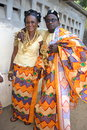 Traditional african dress admire these beautiful worn for big ceremony like marriage baptism funerals and large rancontre between Stock Photos