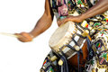 Traditional african drum player Royalty Free Stock Photo