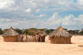Traditional african huts in kenya Stock Photography