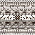 Traditional African pattern with giraffes Stock Images