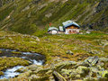 Traditional alpine hut tirol austria Stock Image