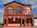 Traditional American Fire House Stock Image