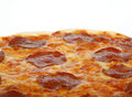 Traditional american/ italian cheese and pepperoni pizza Stock Images
