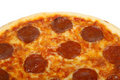 Traditional american / italian cheese and pepperoni pizza Royalty Free Stock Images
