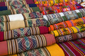 Traditional Andean Tapestry Royalty Free Stock Photo