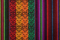 Traditional andean tapestry. Royalty Free Stock Photo