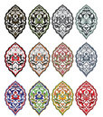 Traditional antique ottoman turkish tile illustrat Stock Photography