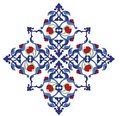 Traditional antique ottoman turkish tile illustrat Royalty Free Stock Photos