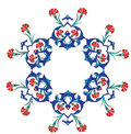 Traditional antique ottoman turkish tile illustrat Stock Image