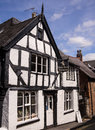 Traditional antique shop england old style in a black and white tudor building ellesmere shropshire Stock Image
