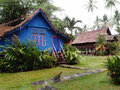 Traditional antique village houses, Malaysia Royalty Free Stock Photo