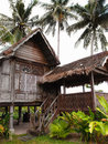 Traditional antique wood house, Malaysia Stock Images