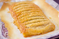 Traditional apple strudel just out oven Royalty Free Stock Photo