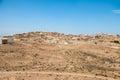 Traditional Arabian city on sand dunes Royalty Free Stock Photo