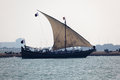 Traditional arabian dhow in Doha Stock Photos