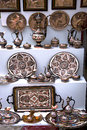 Traditional arabic tableware at the east market in mostar bosnia herzegovina Royalty Free Stock Photography