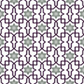 Traditional Arabic tangled pattern. Seamless vector background.