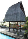 Traditional architecture balinese resort Stock Images