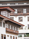 Traditional architecture of Bhutanese houses Stock Photos