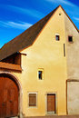 Traditional architecture of Eguisheim. Royalty Free Stock Photo