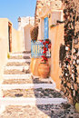 Traditional architecture of Oia village Stock Images