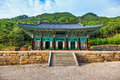 Traditional architecture old building temple in Korea Royalty Free Stock Photo