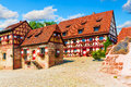 Traditional architecture in the Old Town in Nuremberg, Germany Royalty Free Stock Photo